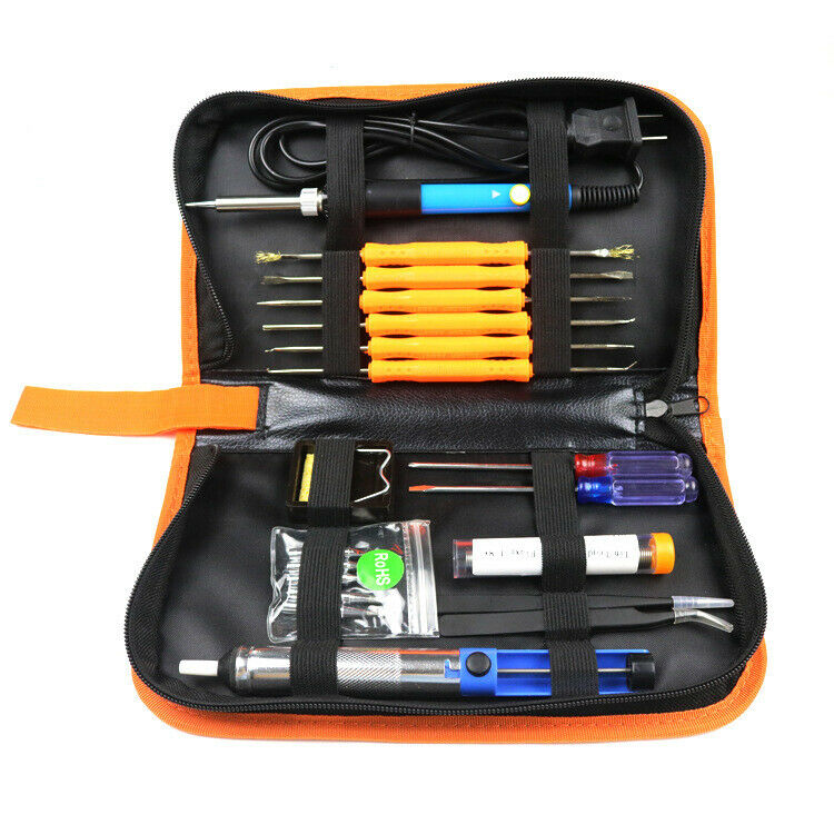 Electric Soldering Iron Gun Tool Kit 110v 60w Control  U2103 Welding Station Tip Case