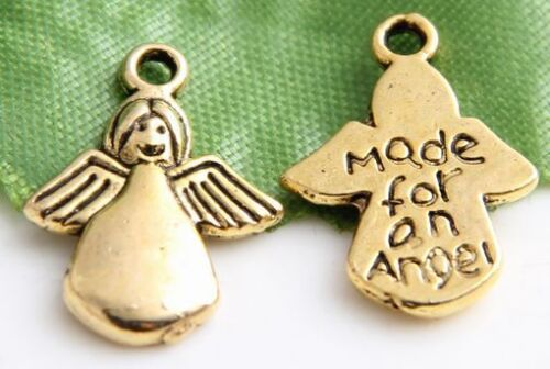"""Free Ship 35PcsAncient Gold Plated /"""" Made for an angel /"""" Charms Pendants 18x13mm"""