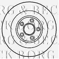 Rear Borg /& Beck BBD5932S Brake Disc Single