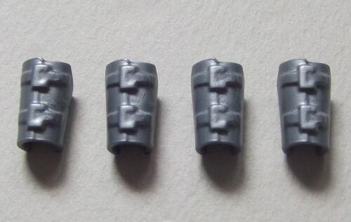 Manschette 20071 4x lang Ledermanschette Armschutz 2 Paar silber