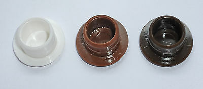 Brown pack of 10 hafele White 35mm Cover Cap for Hinge Holes Cream