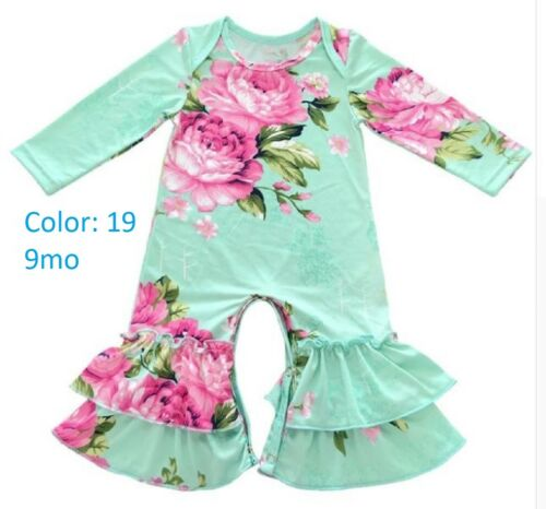 Baby Girl Fall Winter Ruffled Rompers