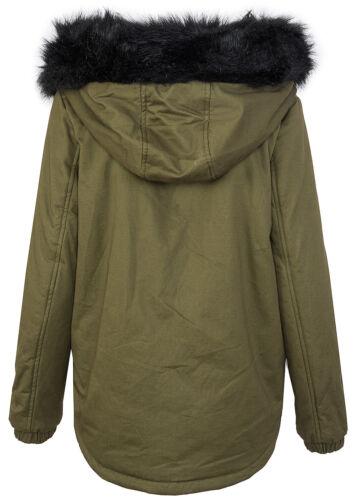 Designer damen parka winter jacke gefütterte jacke mit kapuze XXL-kunstfell D222
