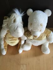 "Lot Of 2 eeyore & Winnie the Pooh Plush Holiday Edition 18"" Disney Store"