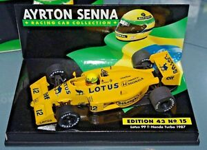 Minichamps F1 1/43 Lotus 99 Honda Turbo 1987 - Collection Ayrton Senna # 15