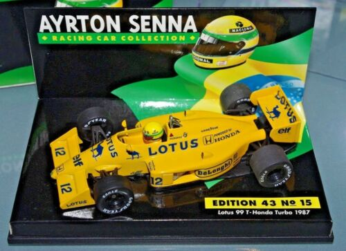 Minichamps F1 1/43 Lotus 99 Honda Turbo 1987 - Collection Ayrton Senna # 15