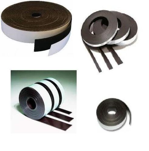 selbstklebend  Typ A 1,5mm x 25,4mm x Meterware  Magnetfolie Magnetband roh