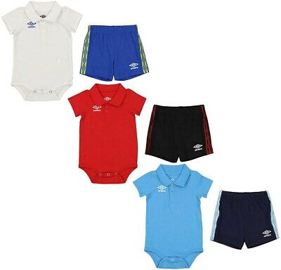 Color Options Bib /& Sock Set Umbro Infant//Newborn Ball Baby Creeper