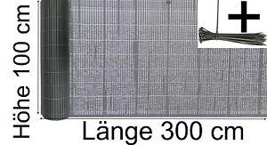Balkon Sichtschutz 100 X 300 Cm Blickschutz Pvc Kunststoff Farbe