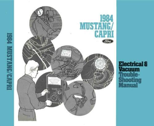 Capri OEM Repair Maintenance Shop Manual Bound for Ford Mustang Evtm 1984