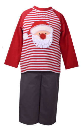 Bonnie Baby Matt/' Scooter Christmas Holiday Boys Santa Outfit Set 12M 18M 24M