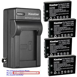 Kastar-Battery-Wall-Charger-for-Kodak-KLIC-5001-amp-Kodak-EasyShare-DX7440-Zoom