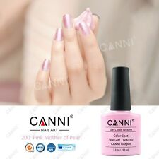 200 CANNI PINK MOTHER OF PEARL UV LED SOAK OFF GEL COLORS NAIL ART 7.3ml