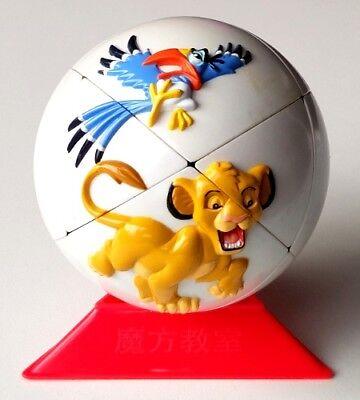 Re Leone Simba Vintage Disney Palla Zazu Rafiki Sfera Puzzle Cubo Di Rubik Rubix-mostra Il Titolo Originale