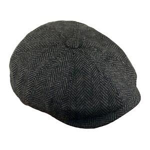 Wool-Tweed-Gavroche-Laine-Casquette-Souple-Plate-Hommes-Chapeau-Hiver-Chapeaux
