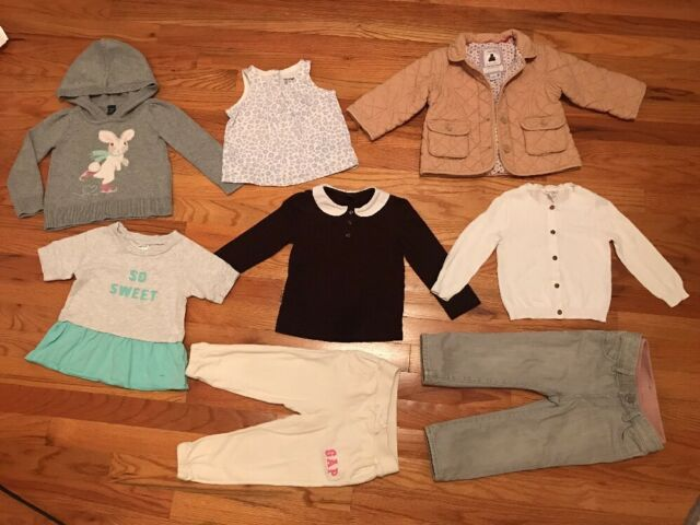 bcaaf425bd7a0 Details about Gap Carter's J.Crew Crewcuts Jacket Shirt Sweater Jeans Baby  Girl 18-24 2T Lot