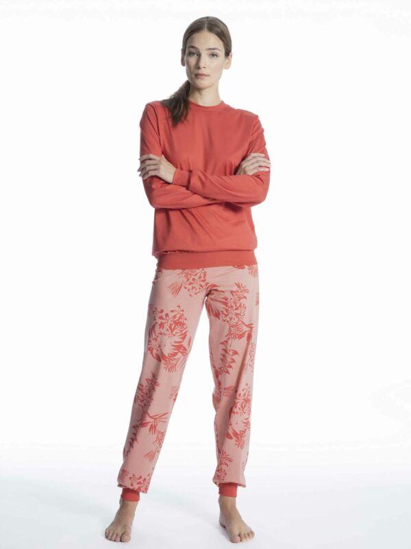 Calida Damen Bündchen-pyjama Soft Jersey Fun Neu & Ovp