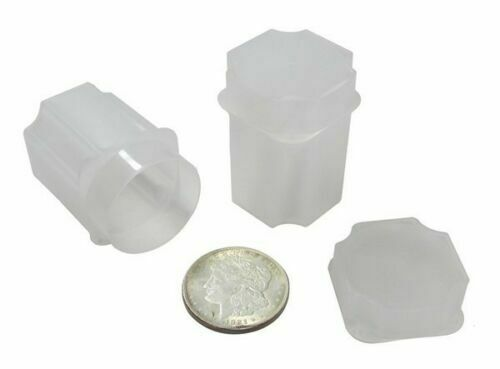 20 Morgan Silver Large Dollar Coin Holder Tube Square Storage Case Guardhouse