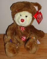 "Russ COOKIE Christmas Gingerbread Man bear 9"" plush w/Tag"