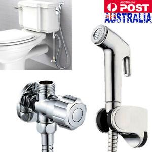 Shower-Head-Handheld-Douche-Bidet-Toilet-Spray-Hand-Held-Jet-Shattaf-Kit-Chrome