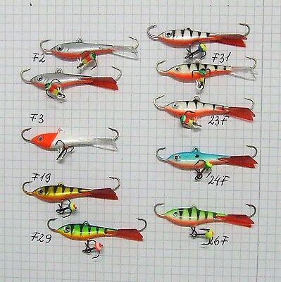 Eisangeln Eisfischen Balance Jigger Zocker Pro 15 Kunstköder 2 Gramm
