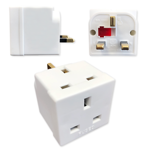Single Socket 2-4 Way Socket Converters 13 Amp 240v 2,3 or 4 Pug Socket