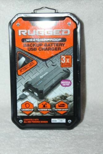 uk availability 60664 8ab10 Premier Rugged Weatherproof Backup Battery USB Charger PTUFFBB01 -Factory  Sealed