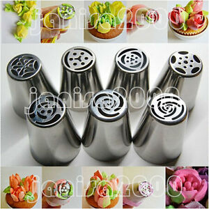 New 7pc Russian Diy Pastry Cake Icing Piping Decorating