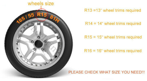 """Conjunto De 4x14 /""""rueda de adornos para caber Peugeot 106,107,206,306 socio"""