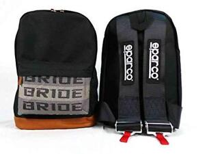 BACKPACK BLACK RACING HARNESS SHOULDER STRAP BRIDE RACING  SPOON SPORTS TYPE ONE