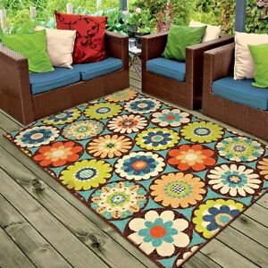 RUGS AREA RUGS 8x10 OUTDOOR RUGS INDOOR OUTDOOR RUGS CARPET FLORAL ...