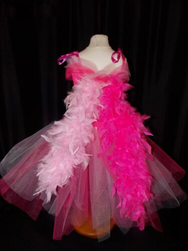 Pinkie Pie Pink  My Little Pony Inspired Tutu Dress Handmade Feather Mane