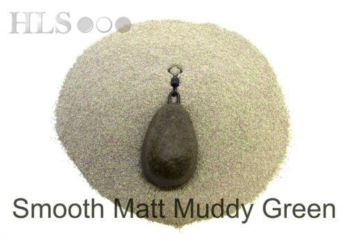 SMOOTH MATT Muddy green Lead//Jig head coating powder plastic HLS tackle S-MUD