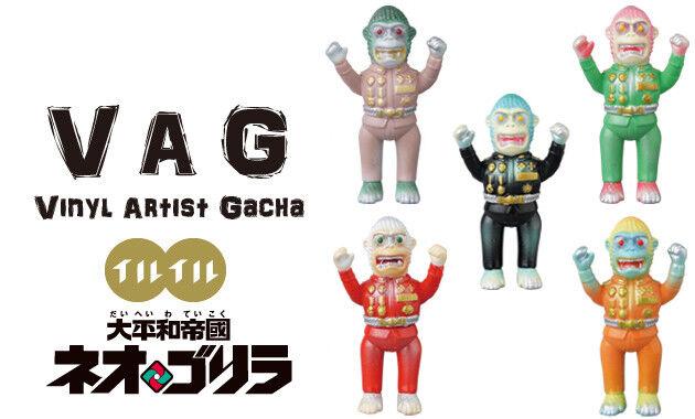 MEDICOM VAG VAG VAG Series 17 Neo Gorilla llu llu VINYL ARTIST GACHA Full set of 5 pcs 71e2f0