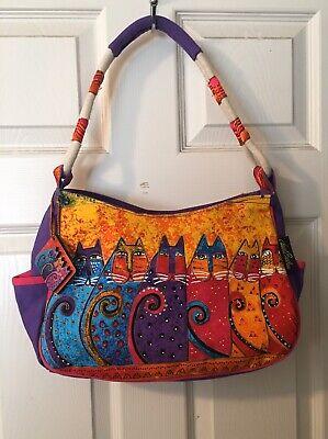 Laurel Burch Women/'s Cat Purse Colorful Top Handle Handbag
