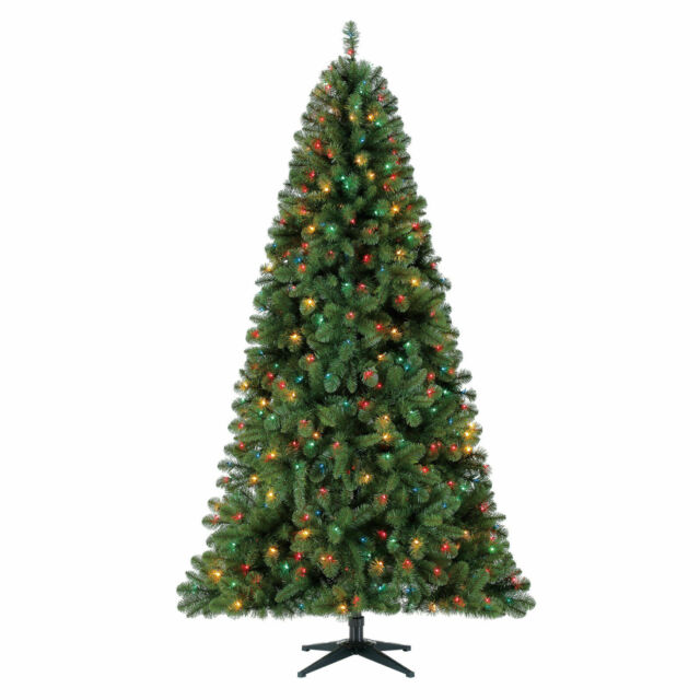 Holiday Time Pre-Lit 7.5\' Kennedy Fir Artificial Christmas Tree Multi-Lights