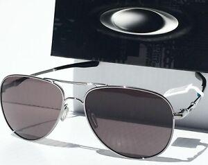 272d469be6 NEW  Oakley ELMONT L Silver 60mm AVIATOR Grey lens Sunglass 4119 ...
