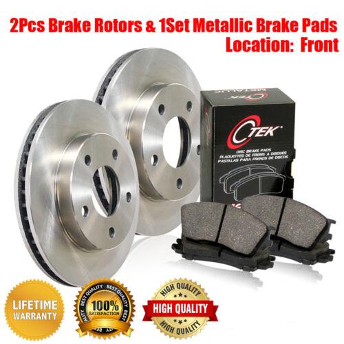 Metallic Brake Pads 3PCS For Opel 1900 Centric Front Brake Disc Rotors