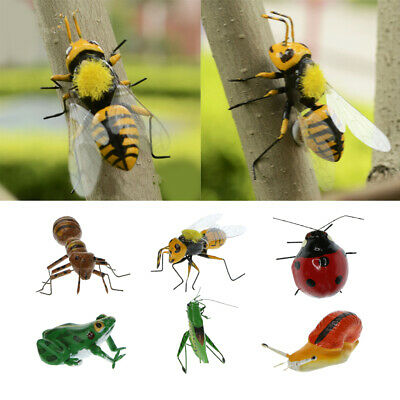 3x Grassland Lifelike Insect Ornament Cute Bee Model Statues Lawn Sculpture