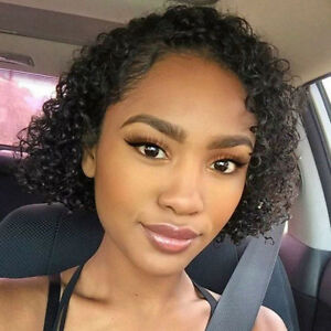 Curly-Short-Bob-Lace-Front-Human-Hair-Wig-Pre-plucked-Glueless-Black-Women-Wigs