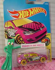 VOLKSWAGEN GOLF MK7 #111✰Magenta-pink VW; pr5 yellow✰✰2017 Hot Wheels Case F