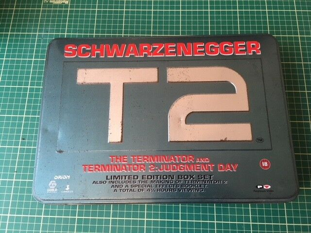 Retro 90's T2 Terminator Box Set Schwarzenegger VHS Limited Edition Box Set