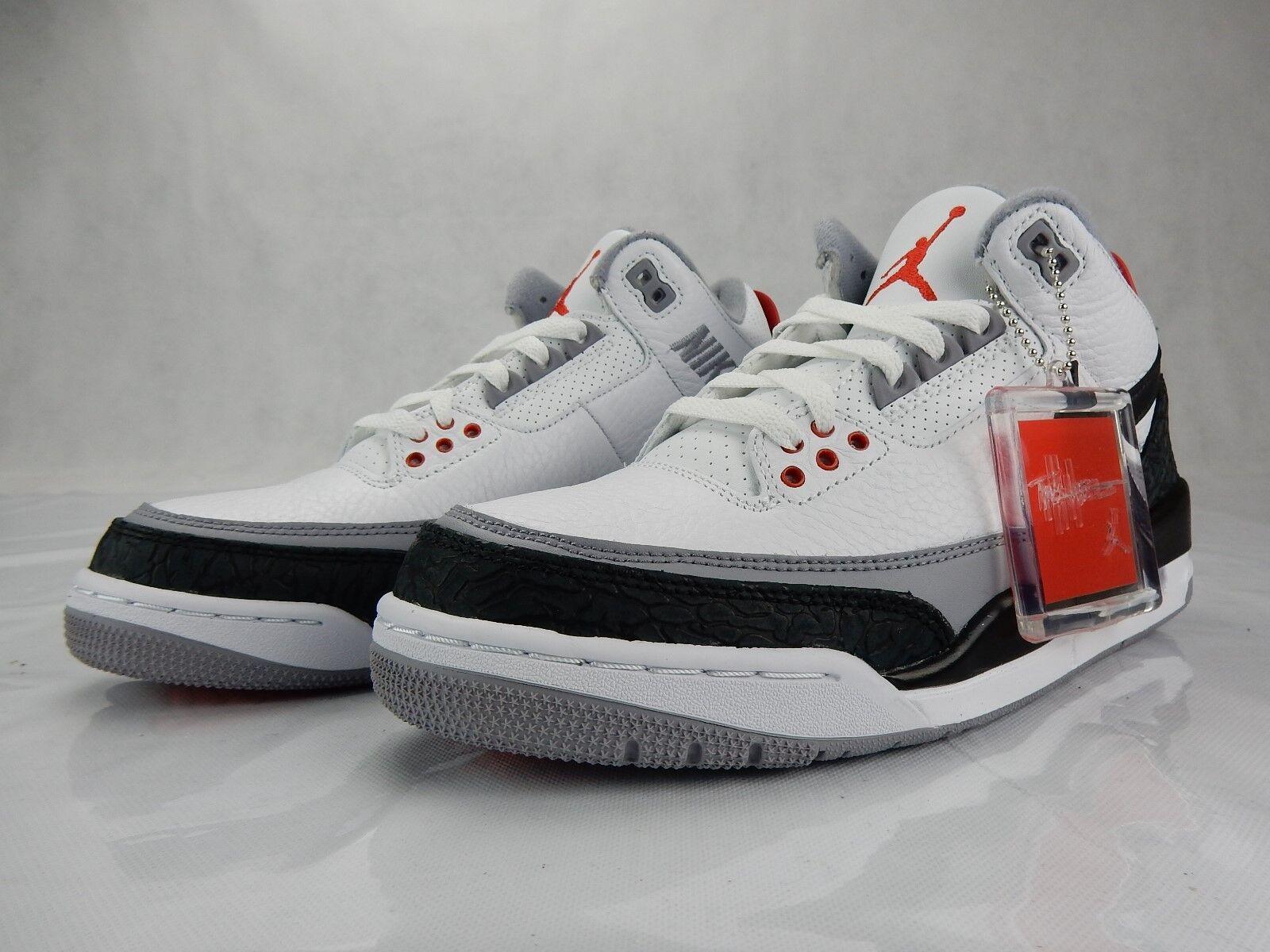 Nike air jordan 3 iii retrò tinker 8 uomini s aq3835 160 bianco - rosso di scarpe nere