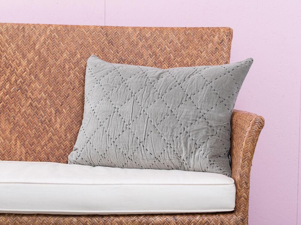 A Simple Mess - Kissenhülle  Maja  grau grün, Samt, Canvas, Baumwolle 40x60 | Einfach zu spielen, freies Leben