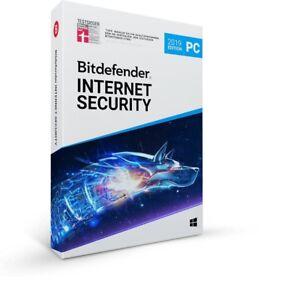 Bitdefender Internet Security 2019 Vollversion 1, 3, 10  PC 1, 2, 3 Jahre Lizenz