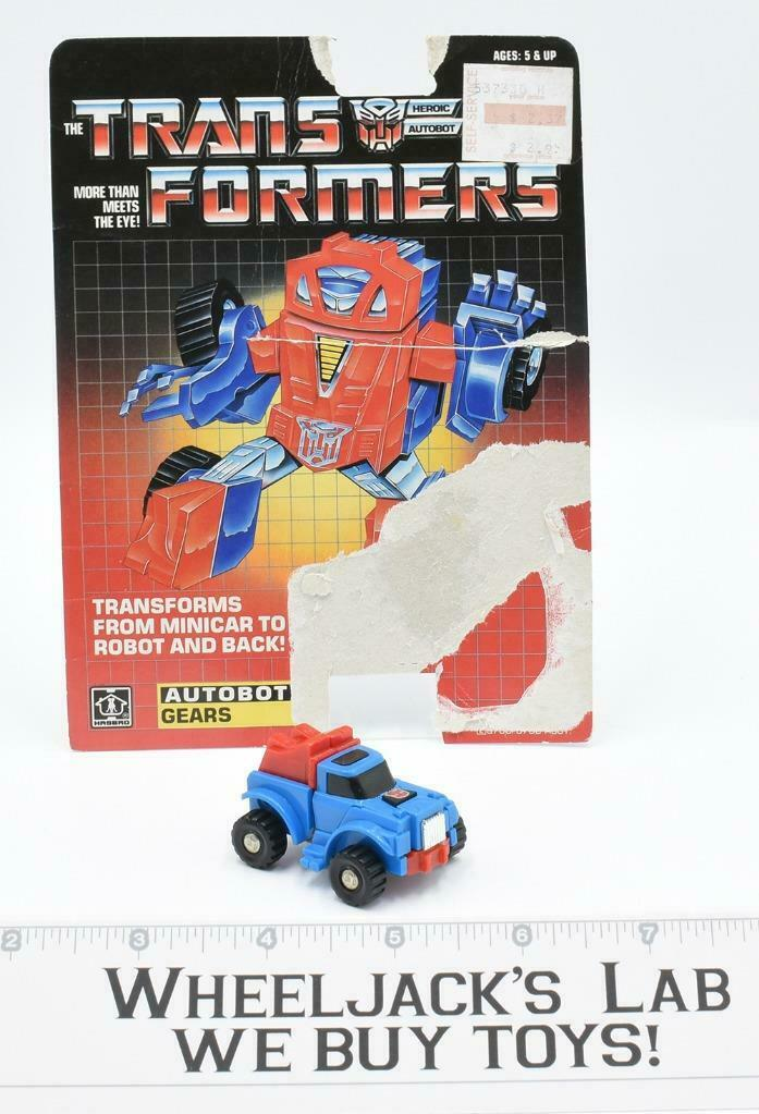Gears WITH CARDBACK Vintage Hasbro 1984 G1 Transformers Action Figure