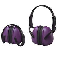 Purple Ear Muffs Hearing Protection Folding & Adjustable Work//hunting/shooting