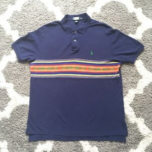 6850e21f Polo Ralph Lauren Polo Men's Aztec Western Design Polo Shirt Size XL ...