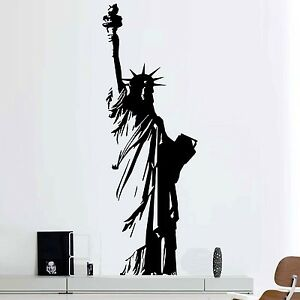 Image Is Loading Vinyl Wall Decal New York Statue Of Liberty