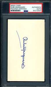 Rube Marquard PSA DNA Coa Autograph Hand Signed 3x5 Index Card